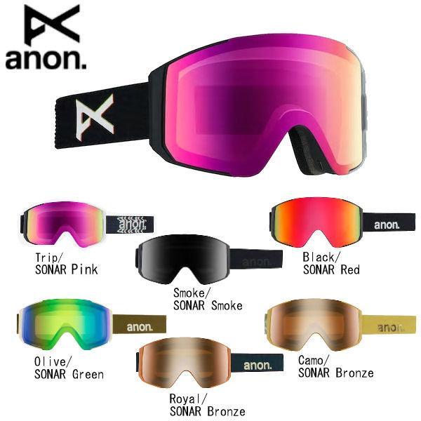 アノン MEN'S ANON SYNC GOGGLE メンズ スノーゴーグル スキー スノーボード ゴーグルバッグ付属 6カラー