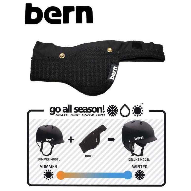 メンズ アップグレードインナー ヘルメットインナー 耳あて バーン HARD HAT BERN INNER KNIT