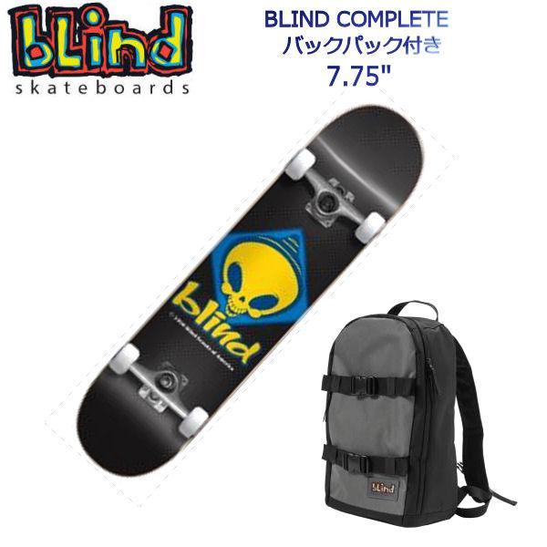 ブラインド BLIND キッズ ジュニア 子供用 コンプリートデッキ バックパック付き スケートボード 板 RETRO REAPER SCOUT 7.75 COMPLETE SKATEBOARD