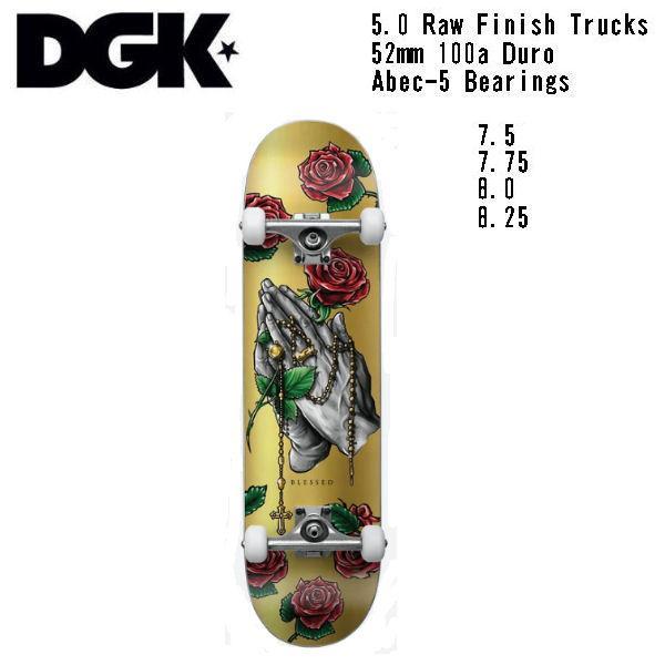 【DGK】ディージーケー DGK BLESSED COMPLETE DECK Skateboard コンプリート  スケボー 大人 デッキ KIDS キッズ スケートボード 板 初心者|54tide