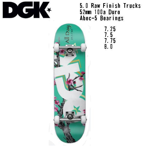 【DGK】ディージーケー DGK BLOSSUM COMPLETE DECK Skateboard コンプリート  スケボー 大人 デッキ KIDS キッズ スケートボード 板 初心者|54tide