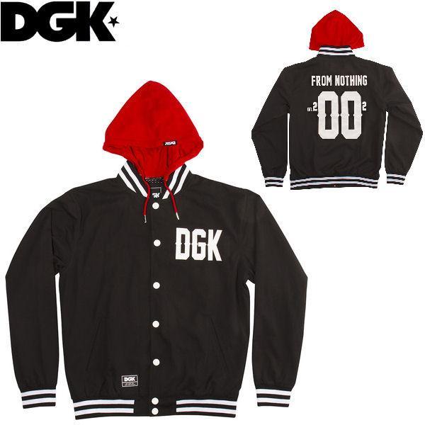 ディージーケー DGK FROM NOTHING HOODED JACKET メンズジャケット スタジャン ジャンバー|54tide