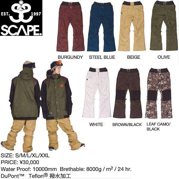 エスケープ SCAPE STINGRAY PANTS メンズスノーパンツ スノーボードウェア 711-153-31