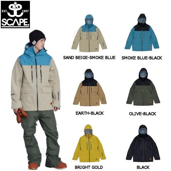予約受付中 特典あり SCAPE エスケープ メンズ スノージャケット アウター スノーウェア スノーボード POW JACKET