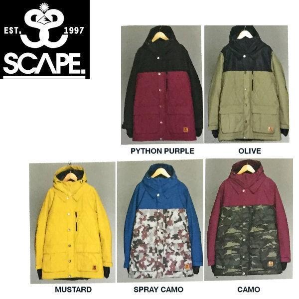 エスケープ SCAPE Atras Jacket レディーススノージャケット 女性用 スノーボードウェアー ウェア S-XL 5カラー
