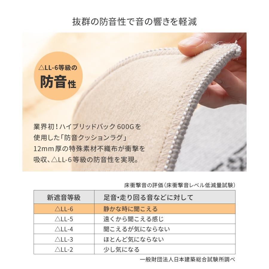 ラグ 130×190cm 抗菌防臭・防ダニ・防音 ボリューム4層構造のラグマット|5stella|06