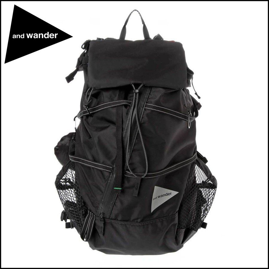16199d228e3a and back wander/ アンドワンダー·40L back pack·Black·AW-AA911 5THの ...
