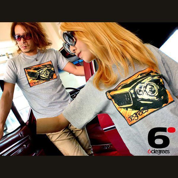 6DEGREES オリジナルTシャツ '71CAMARO・カマロ 杢グレイ/アメ車/シボレー|6degrees