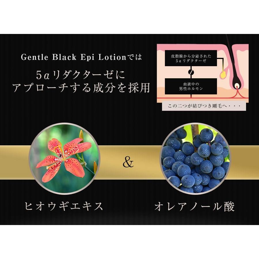 ジェントルブラックエピローション GENTLE BLACK EPI LOTION 3個セット【送料無料】メンズ 男性 スキンケア 化粧水 保湿〔mr-2068-3〕|7-palette|05