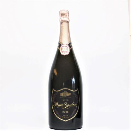名入れ デザイン彫刻 特大 スパークリングワイン ロゼ マグナムボトル 1500ml ロヂャーグラート・カバ ロゼ・ブリュット 開業 開店 周年 お祝い 記念品 ギフト 7colors-glassart 03