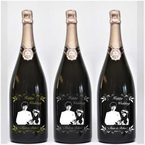 マグナムボトル 写真彫刻 1500ml スパークリングワイン ロヂャーグラート ロゼ ゴールド・ブリュット マグナム|7colors-glassart|04