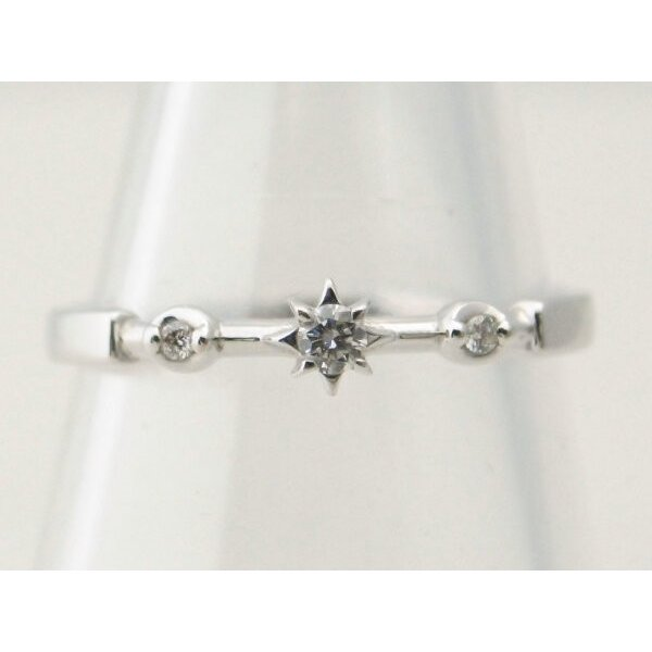 スタージュエリー ダイヤモンドリング K18WG(18金 ホワイトゴールド) 11号 指輪 星 質屋出品|7saito|02