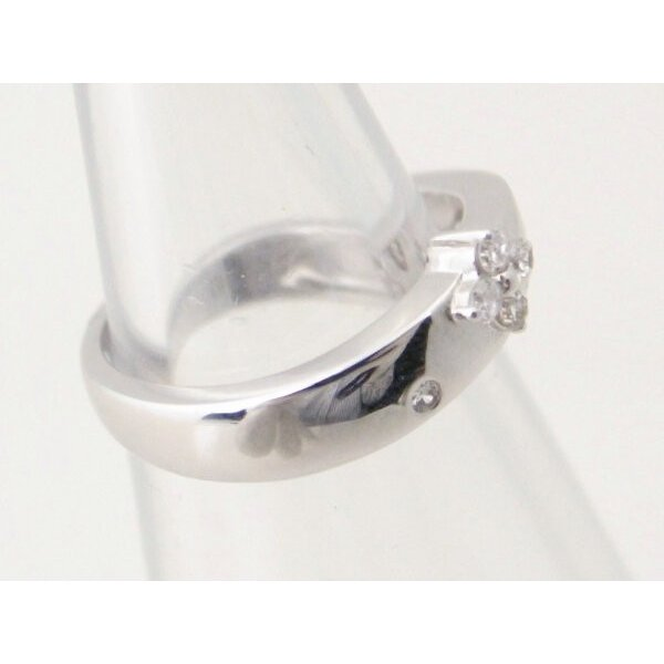 ヴァンドーム青山 ダイヤモンドリング 4号 K18WG(18金 ホワイトゴールド) 質屋出品|7saito|03