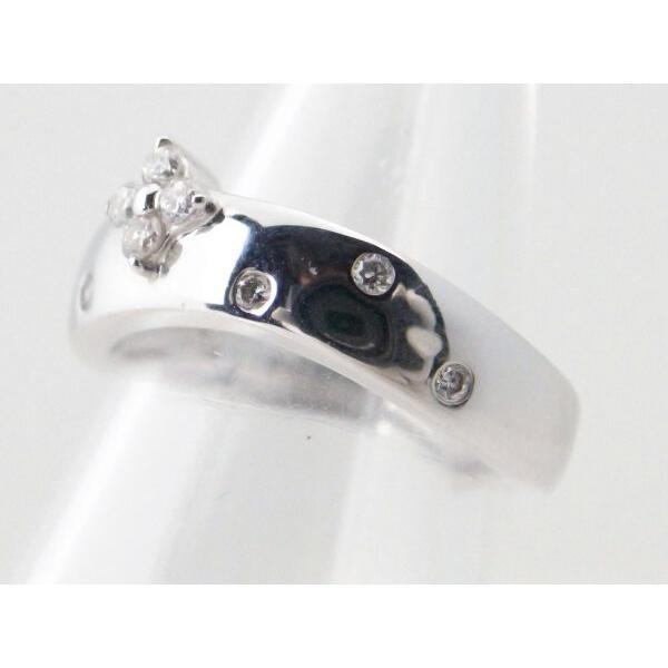 ヴァンドーム青山 ダイヤモンドリング 4号 K18WG(18金 ホワイトゴールド) 質屋出品|7saito|04
