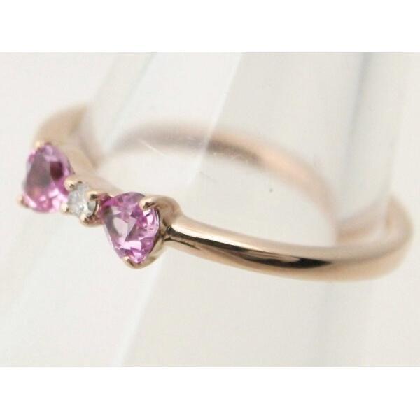4℃ リボンモチーフ ダイヤモンドリング K10PG(10金 ピンクゴールド) 10号 指輪 質屋出品 7saito 04