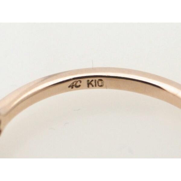 4℃ リボンモチーフ ダイヤモンドリング K10PG(10金 ピンクゴールド) 10号 指輪 質屋出品 7saito 05