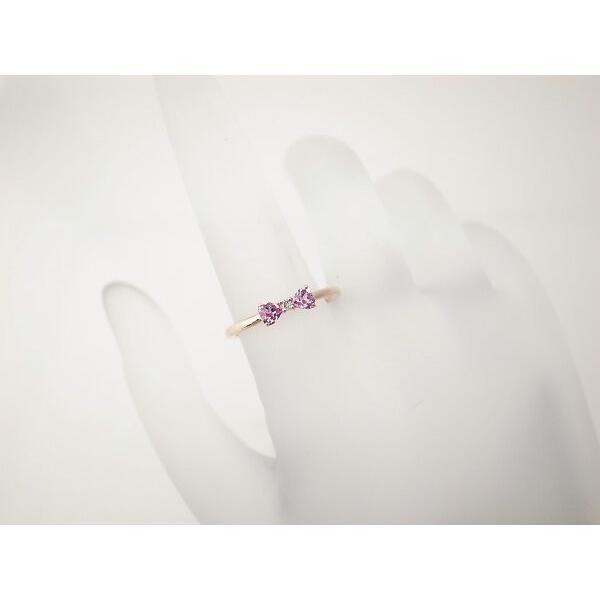4℃ リボンモチーフ ダイヤモンドリング K10PG(10金 ピンクゴールド) 10号 指輪 質屋出品 7saito 06