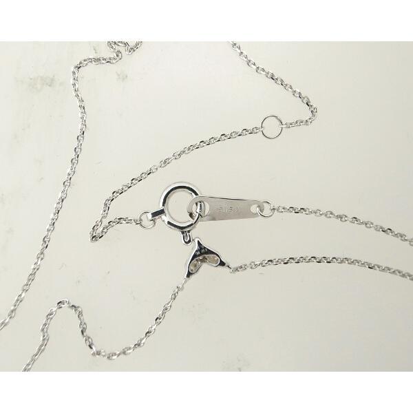 ダイヤモンドネックレス K18WG(18金 ホワイトゴールド) ハートモチーフ 質屋出品|7saito|03