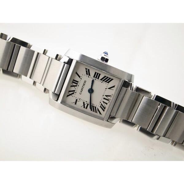 最先端 カルティエ タンクフランセーズSM レディース腕時計 2384 W51008Q3 質屋出品, 湧別町 903d2a17