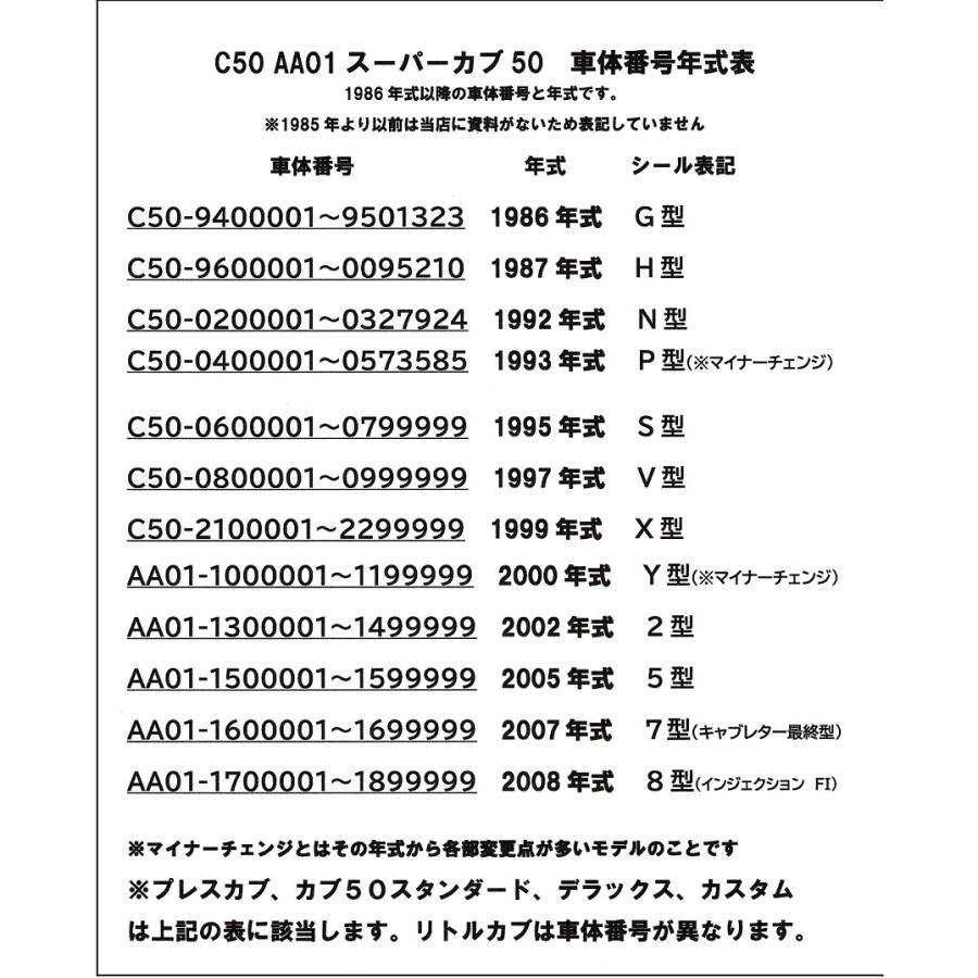 C50 スーパーカブ50 純正フロントブレーキワイヤー 1992年式以前モデル用|819-buhinya3|04