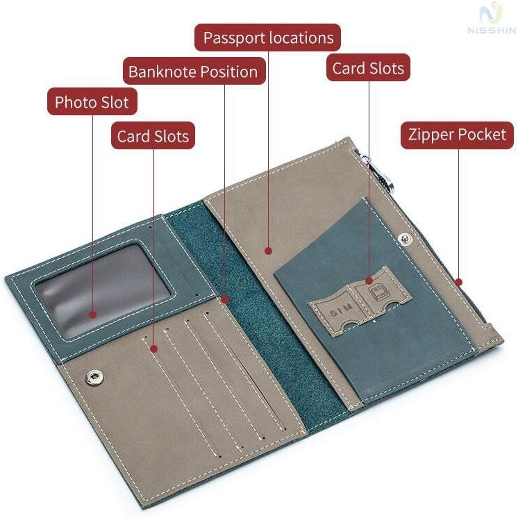パスポートケース メンズ レディース パスポートカバー 本革 牛革 大容量 カード入れ 小銭入れ チケット入れ 海外旅行 安心|8787-store|08
