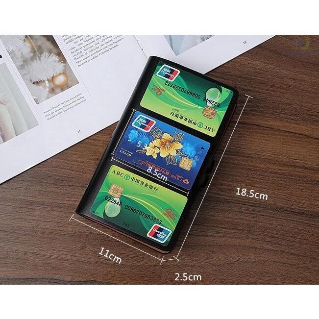 カードケース メンズ レディース 96枚収納 スキミング防止 RFID 大容量 カード収納 上質 ブラック レッド ブラウン ネイビー 男女兼用|8787-store|14