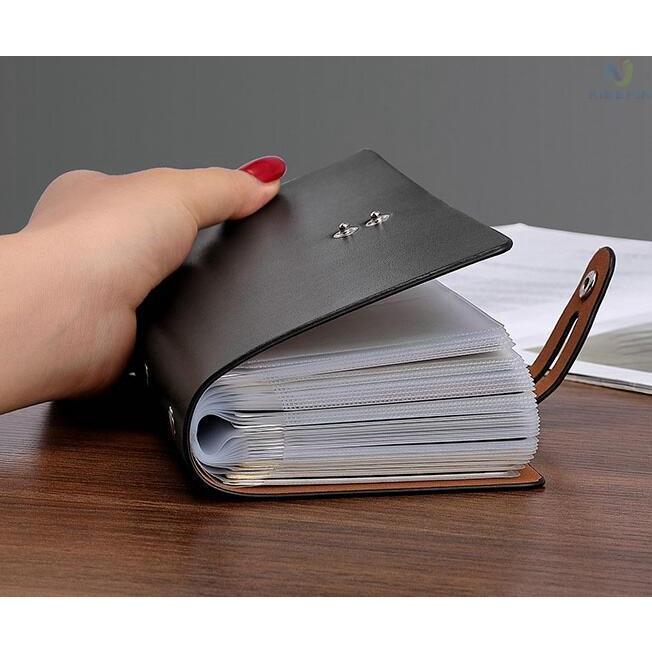 カードケース メンズ レディース 96枚収納 スキミング防止 RFID 大容量 カード収納 上質 ブラック レッド ブラウン ネイビー 男女兼用|8787-store|08
