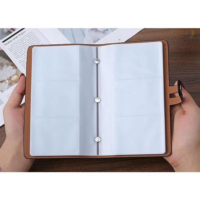 カードケース メンズ レディース 96枚収納 スキミング防止 RFID 大容量 カード収納 上質 ブラック レッド ブラウン ネイビー 男女兼用|8787-store|10