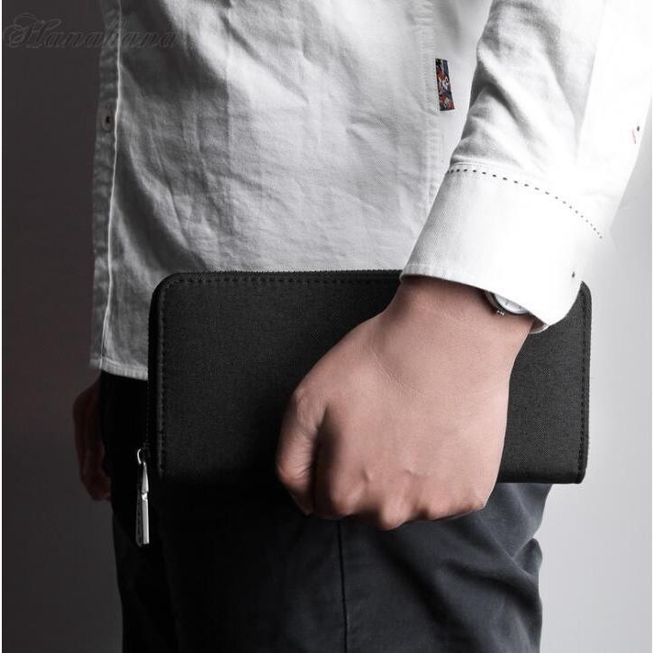 長財布 メンズ財布 オックスフォード ラウンドファスナー 大容量 カード入れ 小銭入れ スマホ収納 さいふ サイフ 父の日 プレゼント|8787-store|02