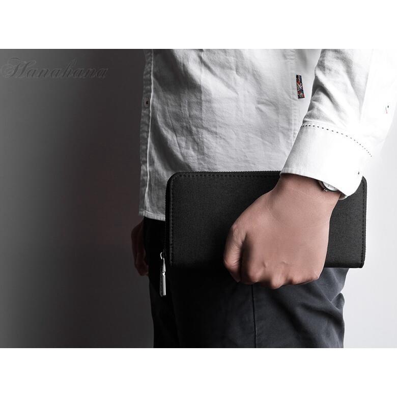 長財布 メンズ財布 オックスフォード ラウンドファスナー 大容量 カード入れ 小銭入れ スマホ収納 さいふ サイフ 父の日 プレゼント|8787-store|12
