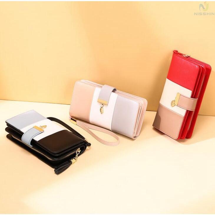 長財布 レディース 財布 牛革 RFID スキミング防止 大容量 カード入れ 小銭入れ お札入れ ストッラプ付き さいふ サイフ  8787-store 03