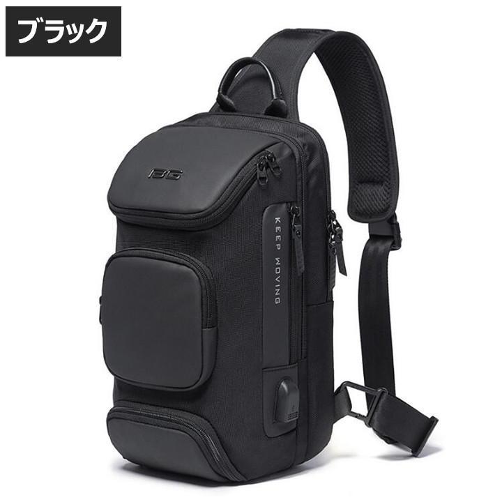 ボディバッグ 大容量 ショルダーバック USB シンプル メンズ 鞄 かばん ボディーバッグ ワン ショルダーバッグ 通勤 旅行 社会人 学生 高校生|8787-store|02