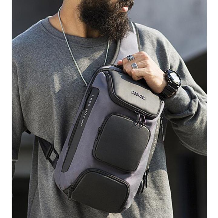 ボディバッグ 大容量 ショルダーバック USB シンプル メンズ 鞄 かばん ボディーバッグ ワン ショルダーバッグ 通勤 旅行 社会人 学生 高校生|8787-store|14