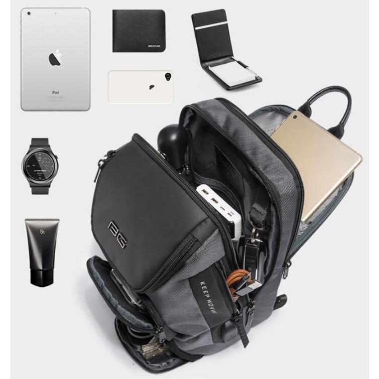 ボディバッグ 大容量 ショルダーバック USB シンプル メンズ 鞄 かばん ボディーバッグ ワン ショルダーバッグ 通勤 旅行 社会人 学生 高校生|8787-store|08