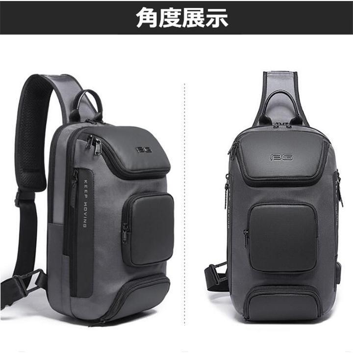 ボディバッグ 大容量 ショルダーバック USB シンプル メンズ 鞄 かばん ボディーバッグ ワン ショルダーバッグ 通勤 旅行 社会人 学生 高校生|8787-store|09