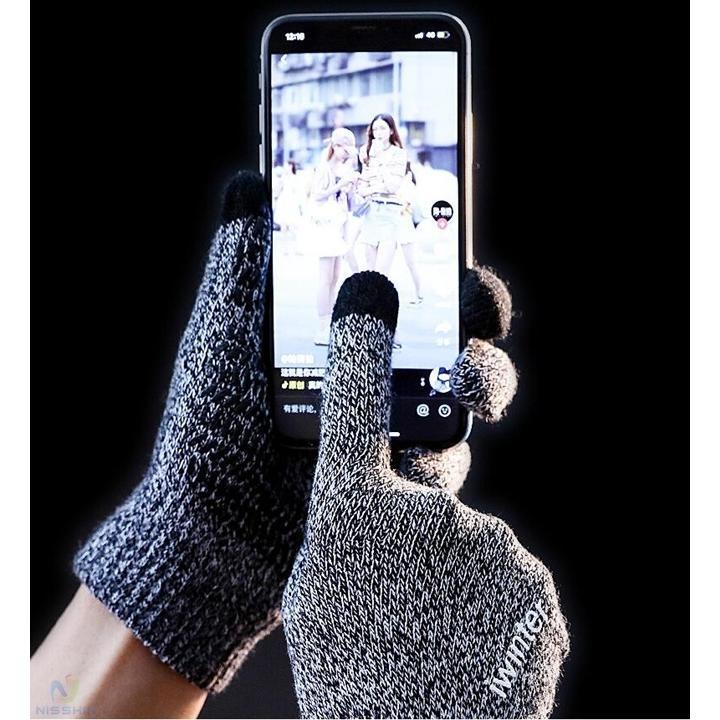 手袋 メンズ レディース 手ぶくろ てぶくろ 編み手袋 冬 防寒 防風 保温 タッチパネル対応 通勤 通学 旅行 バイク サイクリング 男性 送料無料|8787-store|08