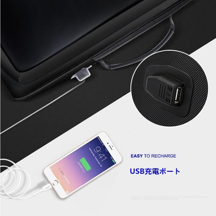 ビジネスリュック リュックサック パソコンバッグ メンズバッグ ビジネスバッグ サラリーマン USB充電口 通勤 通学 出張 3way 大容量 防水 撥水 8787-store 04
