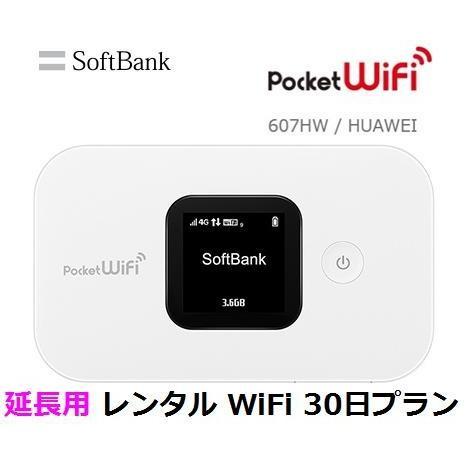 延長用 Softbank LTE レンタル Pocket 在庫処分 WiFi 初売り 30日プラン emobile 1日当レンタル料 138円 607HW ソフトバンク