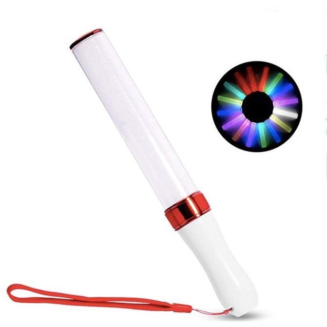 レッド コンサートライト 贈与 卓出 LED15色カラーチェンジ 1本 電池付き ライブスティック サイリュウム ペンライト
