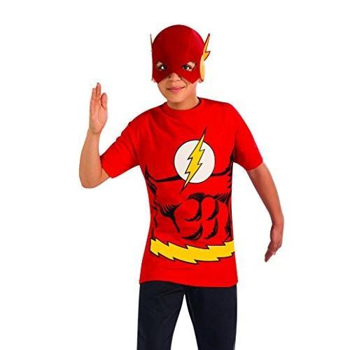Boys Flashシャツマスク子供子ファンシードレスパーティーハロウィンコスチューム M レッド並行輸入品