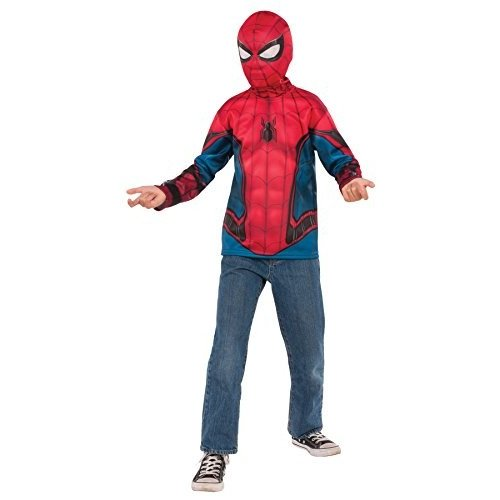 UHC Boy 's Spidermanシャツ&マスクOutfit Movieテーマ子ハロウィンコスチュームキット Child S (4-6) レッド