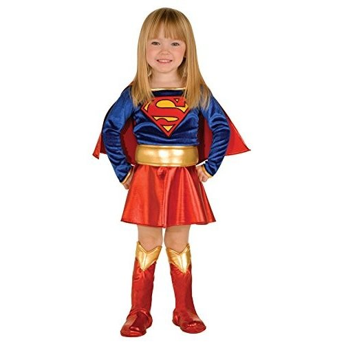 UHC DC Comics Supergirl Deluxe Outfit Movieテーマ幼児用ハロウィンコスチューム Toddler (2-4T)