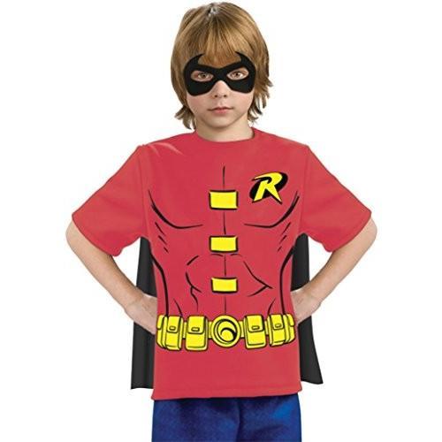 Boysロビンシャツマスクケープ子供子ファンシードレスパーティーハロウィンコスチューム S レッド並行輸入品