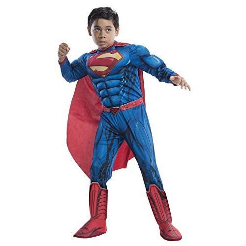 UHC Boy 'sデラックススーパーマンDawn Of Justiceスーパーヒーローファンシードレス子コスチューム Child S (4-6) ブ