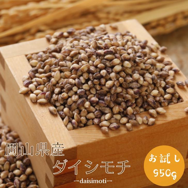 麦 もち麦 950g 国内産 岡山県産 ダイシモチ 迅速な対応で商品をお届け致します 令和元年産 1袋 食品 1kg以下 メール便 雑穀 国産 ポイント消化 チャック付き お中元 予約販売品