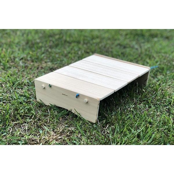 コンパクトにたためるB5ミニテーブル(完成品;収納袋付き)|9kei