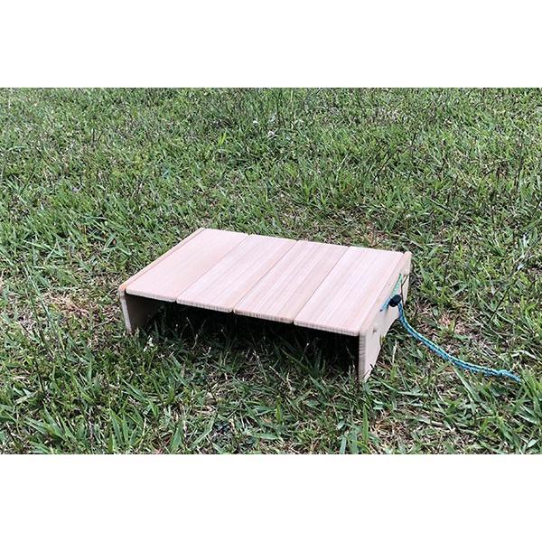 コンパクトにたためるB5ミニテーブル(完成品;収納袋付き)|9kei|02