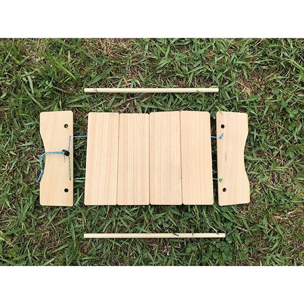 コンパクトにたためるB5ミニテーブル(完成品;収納袋付き)|9kei|03