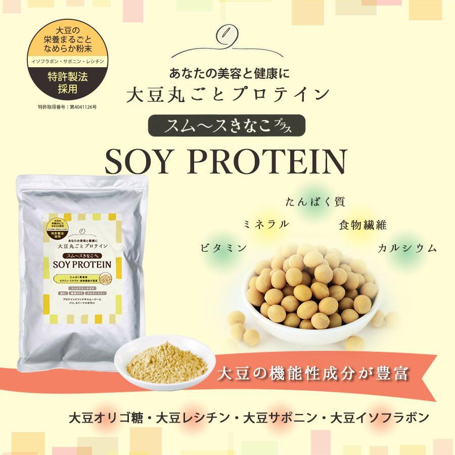 スムースきなこプラスSOY PROTEIN 大豆丸ごとプロテインダイエット,筋力、たんぱく質補給。送料無料(クリックポストにて発送 代引き不可)  a-bic 04