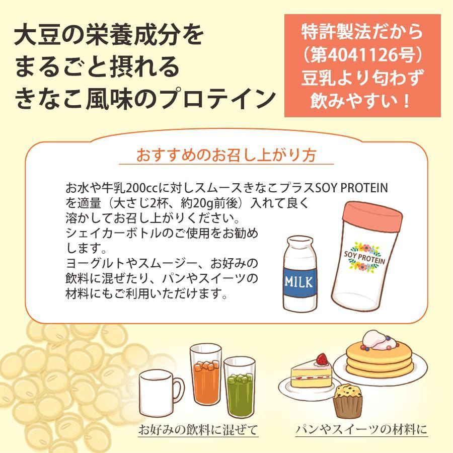 スムースきなこプラスSOY PROTEIN 大豆丸ごとプロテインダイエット,筋力、たんぱく質補給。送料無料(クリックポストにて発送 代引き不可)  a-bic 05